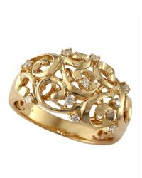 Effy | Metallic 14kt. Yellow Gold And Diamond Ring | Lyst