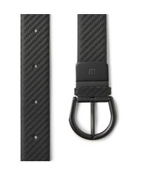 Dunhill - Black 3Cm Chassis Leather Belt for Men - Lyst