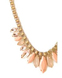 Forever 21 | Pink Boxy Bejeweled Necklace | Lyst