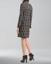 Akris Punto - Black Southwesternprint Shift Dress - Lyst