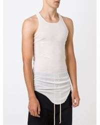Rick Owens - White Curved Hem Tank Top for Men - Lyst