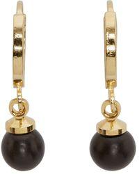 Isabel Marant | Metallic Black And Gold Sweet Peas Earrings | Lyst