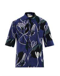 Marni | Blue Floralprint Cotton Shirt for Men | Lyst