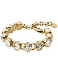 Dyrberg/Kern | Metallic Dyrberg/kern Ciara Swarovski Crystal Bracelet | Lyst