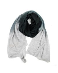 Michael Stars | Black Acrylic Ombre Wrap Scarf | Lyst