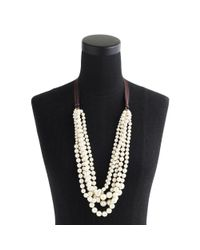 J.Crew | White Pearl Hammock Necklace | Lyst
