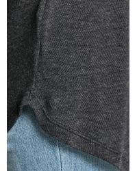 Mango - Gray Dolman Sleeve Flowy Tshirt - Lyst