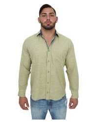 Giorgio Bellini - Natural Florence Linen Blend Button Front Shirt for Men - Lyst