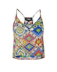 TOPSHOP - Multicolor Festival Shell Print Cropped Cami By Jaded London - Lyst