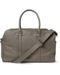 Façonnable | Gray 24-Hour Leather Holdall for Men | Lyst