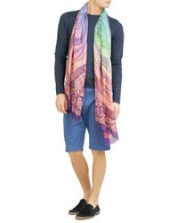 Etro | Cotton Bermuda Shorts - Blue for Men | Lyst