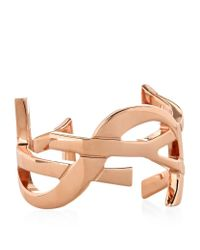 Saint Laurent - Pink Signature Monogramme Cuff - Lyst