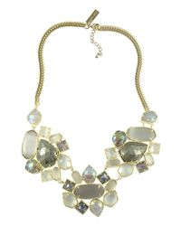 Kendra Scott - Metallic Melissa Necklace In Golden Ice - Lyst