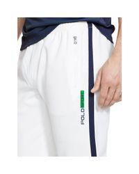 Ralph Lauren - White Cotton-blend-piqué Track Pant for Men - Lyst