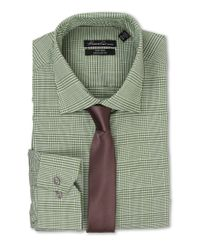 Kenneth Cole | Green Regular Fit Non-iron Plaid for Men | Lyst