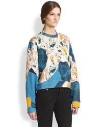 Acne Studios Blue Bird Terazzo Printed Jersey Sweatshirt