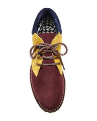 Pollini - Brown Contrasting Lace Up Boot - Lyst
