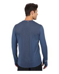 Nike | Blue Dri-fit™ Contour L/s Shirt for Men | Lyst