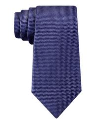DKNY | Blue Slim Fit Micro Square Silk Tie for Men | Lyst