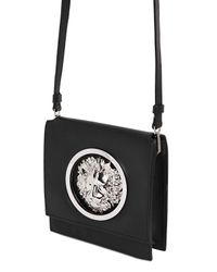 Versus | Black Metal Lion Logo Leather Shoulder Bag | Lyst