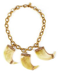 Lulu Frost | Yellow Cleo Triple Necklace | Lyst