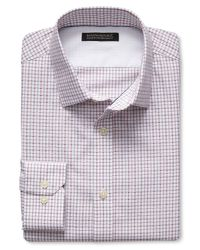 Banana Republic   Brown Tailored Slim-fit Non-iron Dobby Check Shirt for Men   Lyst