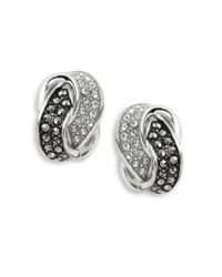 Judith Jack | Metallic Glittering Knot Stud Earrings | Lyst
