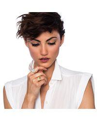 Lulu Frost | Metallic Customizable Signet Ring - Gold | Lyst