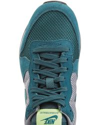 Nike - Internationalist Leather And Mesh Sneakers - Green - Lyst