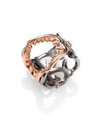 Stephen Webster - Metallic Filigree Shark Jaw Sterling Silver Ring for Men - Lyst