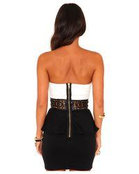 Missguided - Black Raine Sequin Waistband Peplum Dress - Lyst