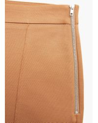 Mango - Brown Straight Cotton Trousers - Lyst