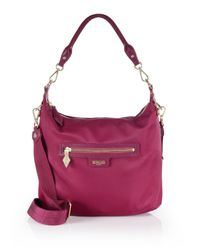 MZ Wallace | Pink Capri Nylon Crossbody Bag | Lyst