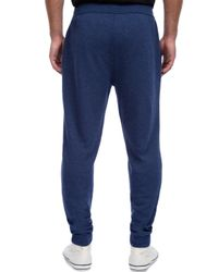 2xist - Blue Terry Cotton-blend Sweatpants for Men - Lyst