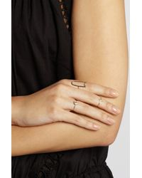 Scosha - Metallic Tiny Moon 10-Karat Gold Diamond Ring - Lyst