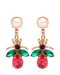 Mawi | Multicolor Love Bug Crystal Earrings | Lyst