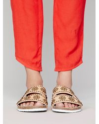 Jeffrey Campbell - Natural Libson Footbed Sandal - Lyst