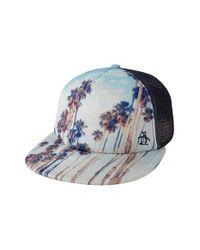 bec4e4116090b Lyst - Original Penguin  printed Scene  Snapback Trucker Hat in Blue ...