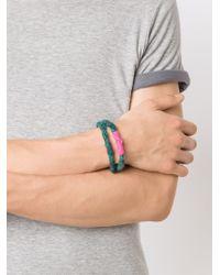 The Elder Statesman   Multicolor Double Wrap Bracelet for Men   Lyst