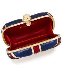 Alexander McQueen | Red Britannia Skull-Clasp Clutch Bag | Lyst