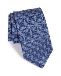 John W. Nordstrom | Blue 'matthews' Medallion Silk Tie for Men | Lyst