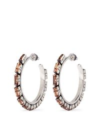 Philippe Audibert | Metallic 'paola' Crystal Strass Hoop Earrings | Lyst
