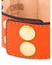 Moschino   Orange Logo Plaque Bracelet   Lyst