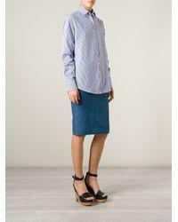 Stella Jean - Blue Striped Shirt - Lyst
