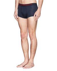 Emporio Armani - Blue Contrast Stitch Stretch Cotton-blend Boxers for Men - Lyst