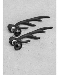 & Other Stories | Black Horn Earrings | Lyst