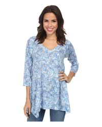 Nally & Millie - Blue V-Neck Sharkbite Tunic - Lyst