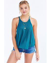 Truly Madly Deeply | Green High-neck Swingy Tank Top | Lyst