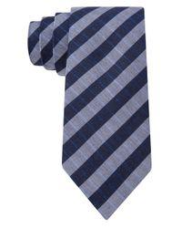 Calvin Klein | Blue Tubic Grid Skinny Tie for Men | Lyst