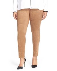 Lyssé | Natural High Waist Faux Suede Leggings | Lyst
